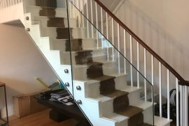 GLASS INSTALLATION TO TRADITIONAL STAIRCASE