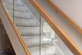 STAIR REFURB WITH DIMINISHED GLASS
