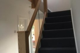 OAK CLADDING TO EXISTING STAIR