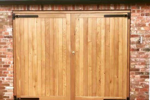 OAK MATCHBOARD GARAGE DOORS